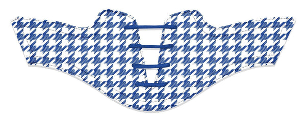 Women's Houndstooth Cobalt Saddles Flat Saddle View From Jack Grace USA