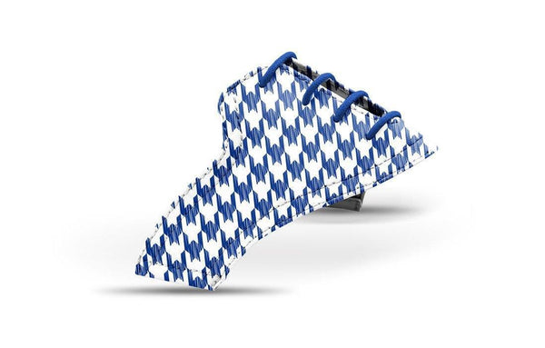 Women's Houndstooth Cobalt Saddles Lonely Saddle View From Jack Grace USA