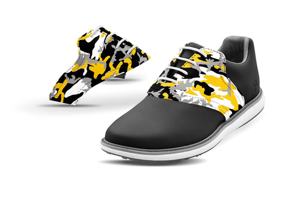 Women's Columbia Mo Alma Mater Camo College Football Saddles On Black Golf Shoe From Jack Grace USA
