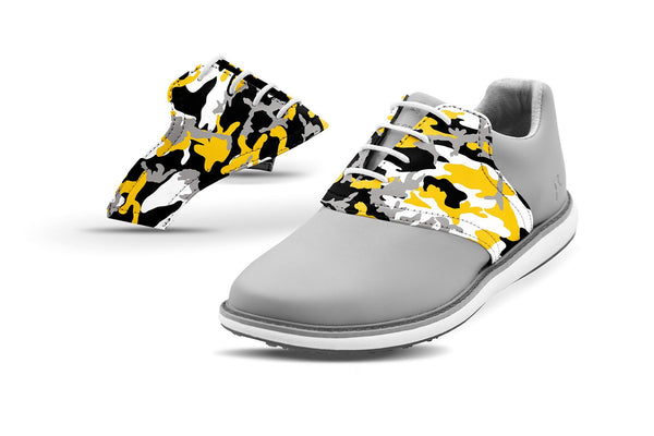 Women's Columbia Mo Alma Mater Camo College Football Saddles On Grey Golf Shoe From Jack Grace USA