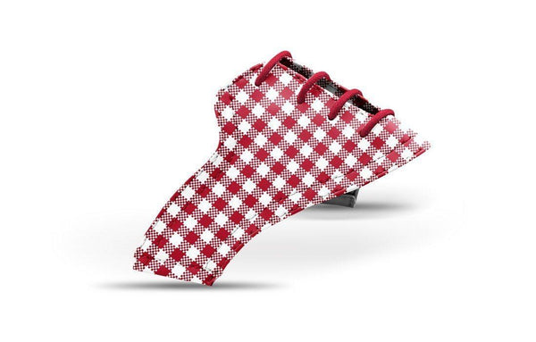 Women's Crimson Gingham Saddles Lonely Saddle View From Jack Grace USA