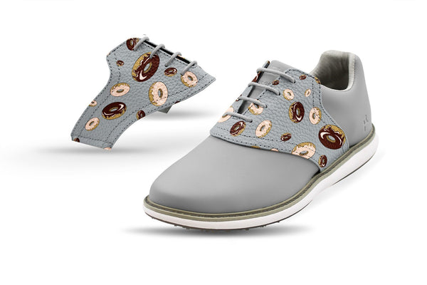 Women's Donuts Saddles On Grey Golf Shoe From Jack Grace USA