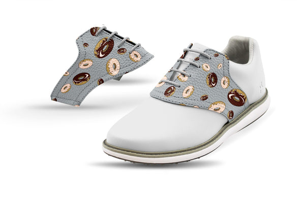 Women's Donuts Saddles On White Golf Shoe From Jack Grace USA