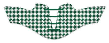Women's Forest Green Gingham Saddles Flat Saddle From Jack Grace USA