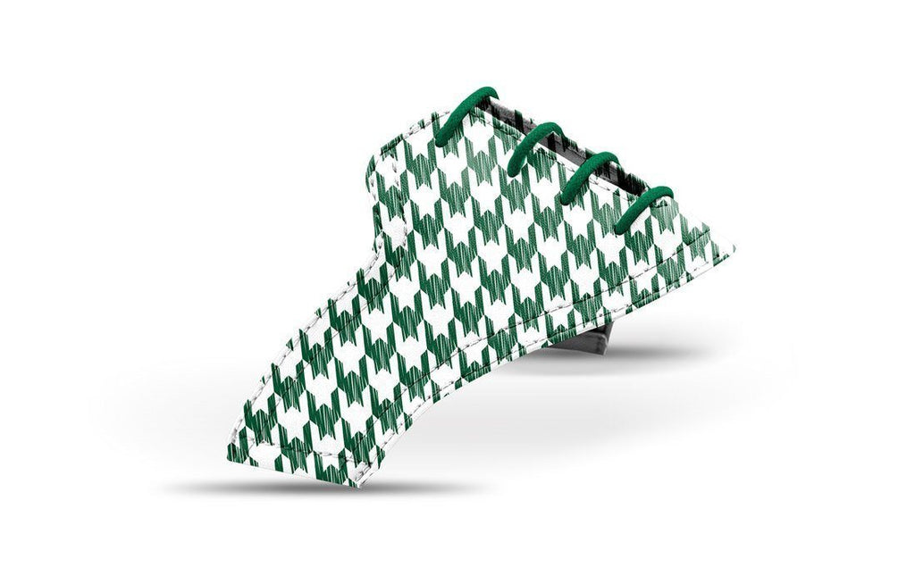 Women's houndstooth forest green saddles lonely saddle view from Jack Grace USA