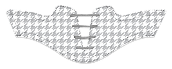 Women's Houndstooth Grey Saddles Flat Saddle View From Jack Grace USA