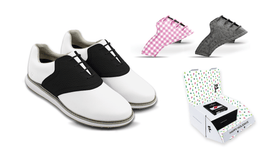 Women's Innovator 1.0 Golf Shoe with Holiday Bundle Saddles & Laces
