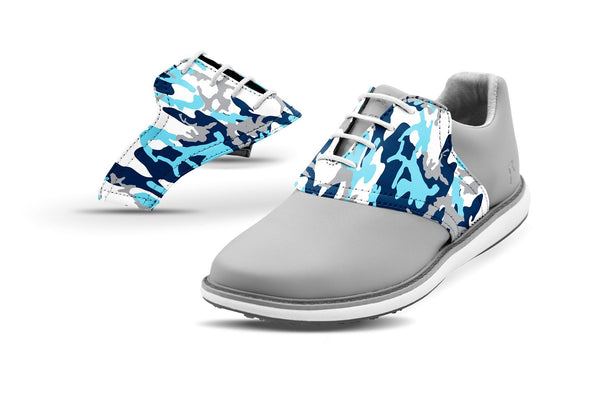 Women's Ice Camo Saddles On Grey Golf Shoe From Jack Grace USA