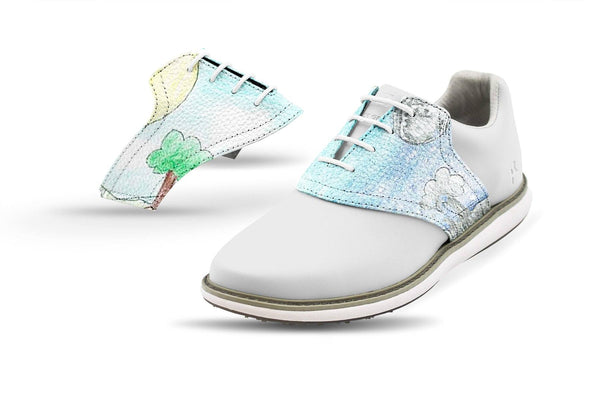 Women's John H Design Saddles On White Golf Shoe From Jack Grace USA