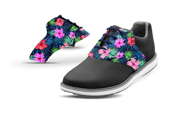Women's Kapua Print Saddles On Black Shoes From Jack Grace USA