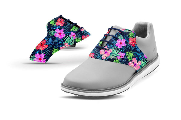Women's Kapua Print Saddles On Grey Shoes From Jack Grace USA