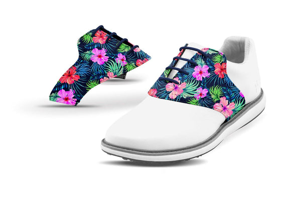Women's Kapua Print Saddles On White Shoes From Jack Grace USA