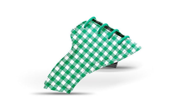 Women's Kelly Green Gingham Saddles Lonely Saddle View From Jack Grace USA