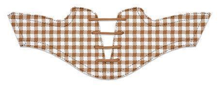 Women's Latte Gingham Saddles Flat Saddle View From Jack Grace USA