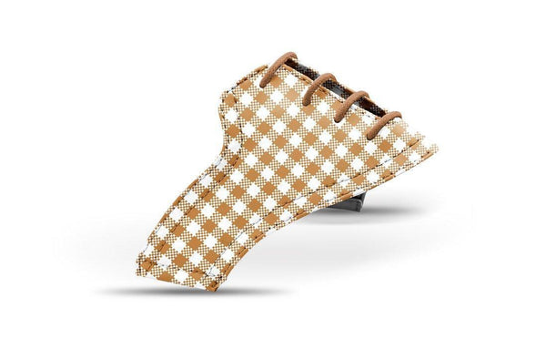 Women's Latte Gingham Saddles Lonely Saddle View From Jack Grace USA