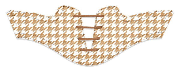 Women's Houndstooth Latte Saddles Flat Saddle View From Jack Grace USA