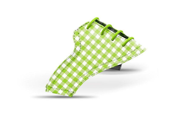 Women's Lime Green Gingham Saddles Lonely Saddle View From Jack Grace USA