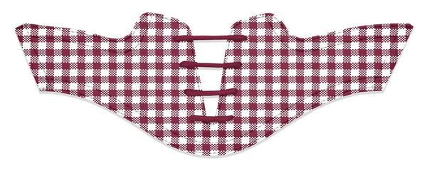 Women's Maroon Gingham Saddles Flat Saddle View From Jack Grace USA