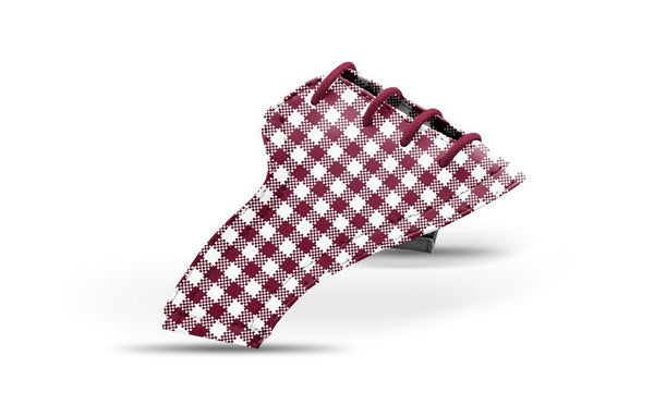 Women's Maroon Gingham Saddles Lonely Saddle View From Jack Grace USA