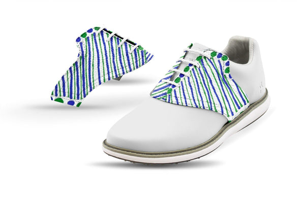 Women's Maya B Design Saddles On White Golf Shoe From Jack Grace USA