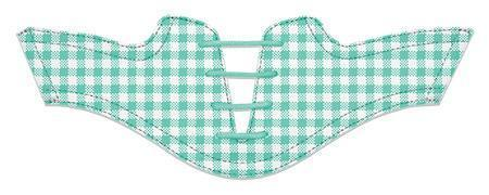 Women's Mint Gingham Saddles Flat Saddle View From Jack Grace USA
