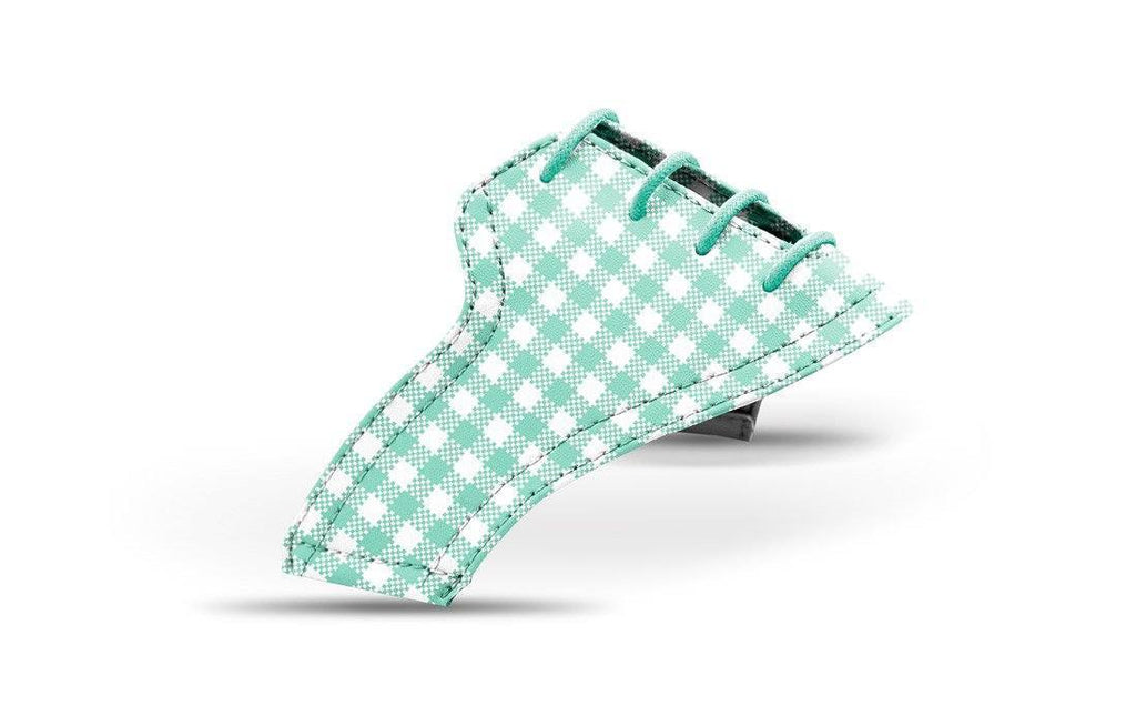 Women's mint gingham saddles lonely saddle view from Jack Grace USA