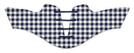 Women's Navy Gingham Saddles Flat Saddle View From Jack Grace USA