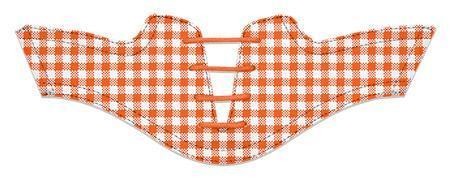 Women's Orange Gingham Saddles Flat Saddle From Jack Grace USA