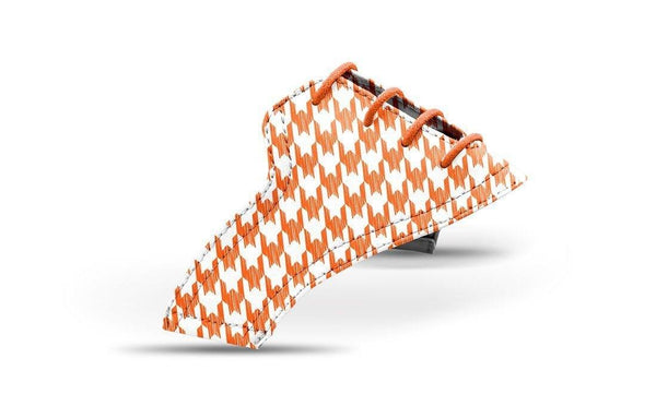 Women's Houndstooth Orange Saddles Lonely Saddle View From Jack Grace USA