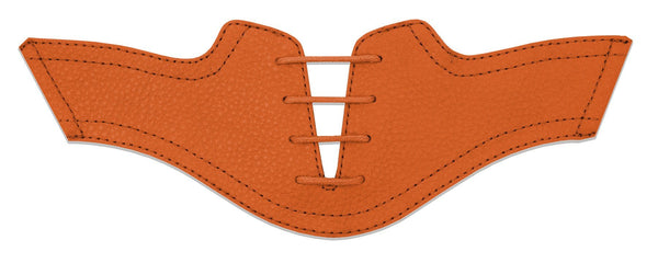 Women's Orange Pebble Saddles Flat Saddle View From Jack Grace USA