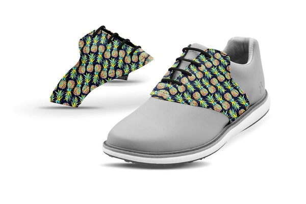 Women's Pineapples Saddles On Grey Golf Shoe From Jack Grace USA
