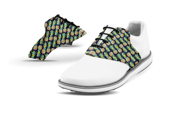 Women's Pineapples Saddles On White Golf Shoe From Jack Grace USA