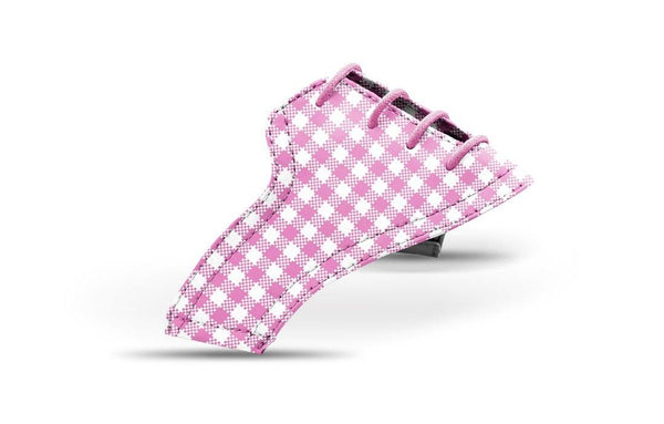 Women's Pink Gingham Saddles Lonely Saddle View Jack Grace USA