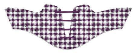 Women's Plum Gingham Saddles Flat Saddle View From Jack Grace USA