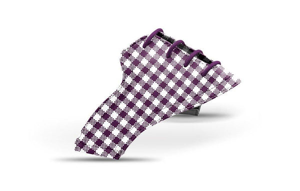 Women's Plum Gingham Saddles Lonely Saddle View From Jack Grace USA