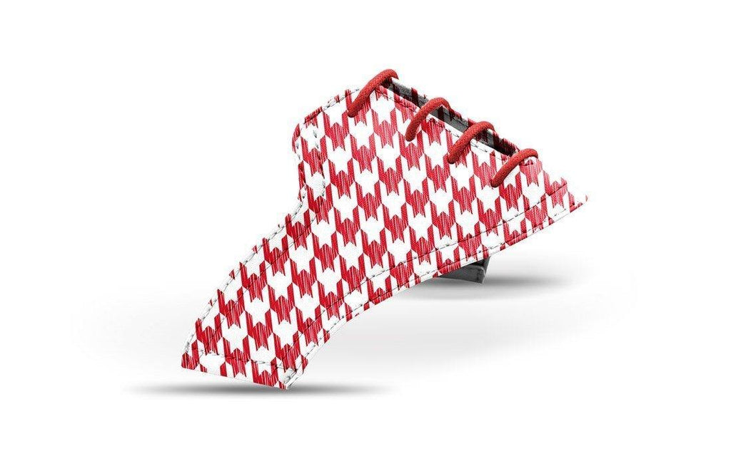 Women's houndstooth red saddles lonely saddle view from Jack Grace USA