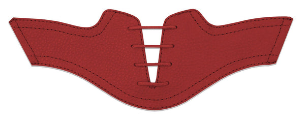 Women's Red Pebble Saddles Flat Saddle View From Jack Grace USA