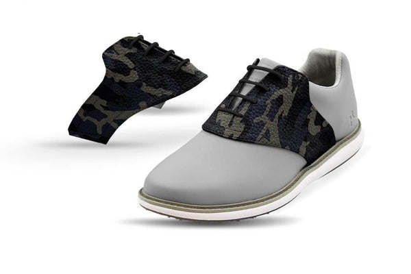 Women's Shadow Camo Saddles On Grey Golf Shoe From Jack Grace USA