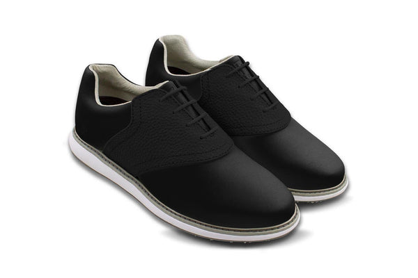 Women's Shoe Black 45 Degree Angle On Black Golf Shoe From Jack Grace USA