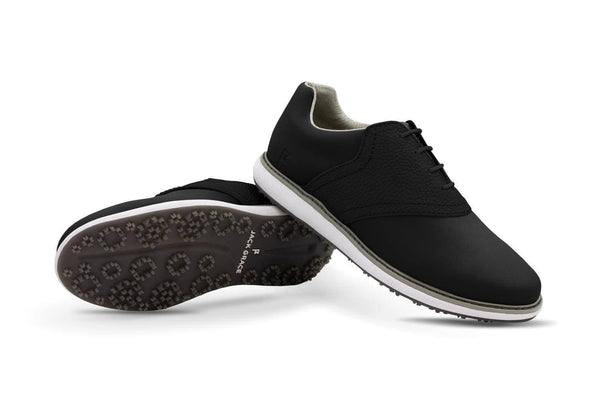 Women's Shoe Black Crisscross Angle On Black Golf Shoe From Jack Grace USA