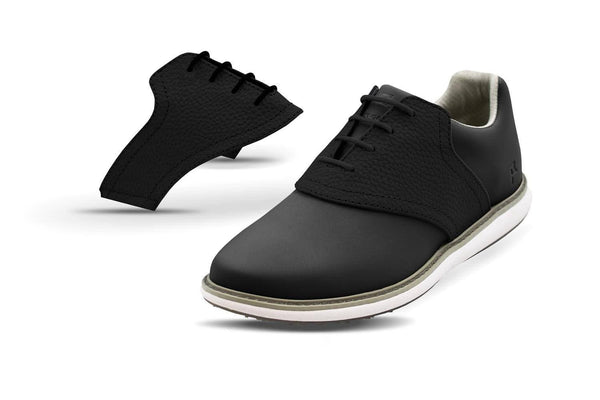 Women's Shoe Black Side By Side Angle On Black Golf Shoe From Jack Grace USA