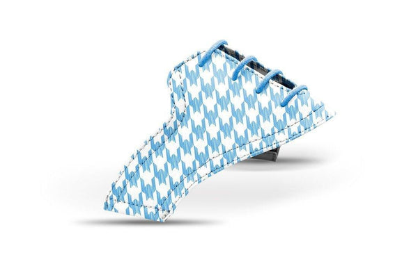 Women's Houndstooth Sky Blue Saddles Lonely Saddle View From Jack Grace USA