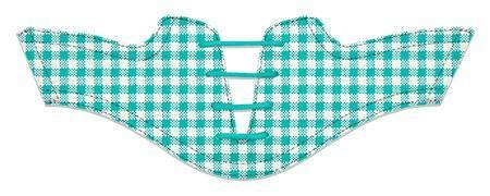 Women's Teal Gingham Saddles Flat Saddle View From Jack Grace USA