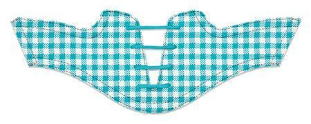 Women's Turquoise Gingham Saddles Flat Saddle View From Jack Grace USA