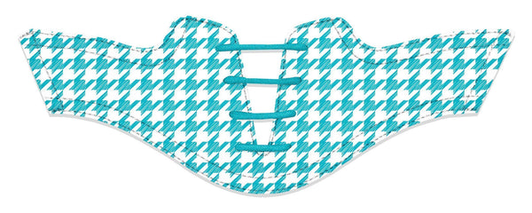 Women's Houndstooth Turquoise Saddles Flat Saddle View From Jack Grace USA