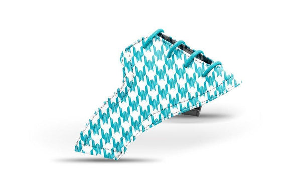 Women's Houndstooth Turquoise Saddles Lonely Saddle View From Jack Grace USA