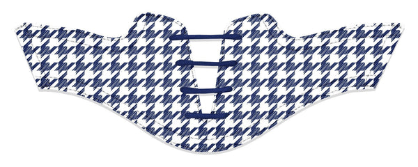 Women's Houndstooth USA Blue Saddles Flat Saddle View From Jack Grace USA