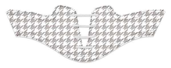 Women's Houndstooth White Saddles Flat Saddle View From Jack Grace USA