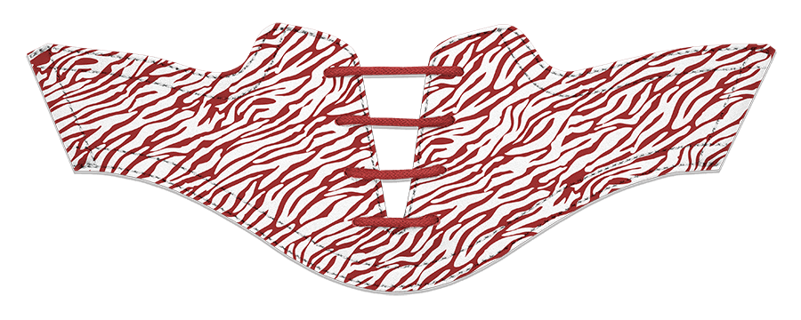 Women's Zebra Red on White Saddles & Laces - DELIVERY SEPTEMBER 2018