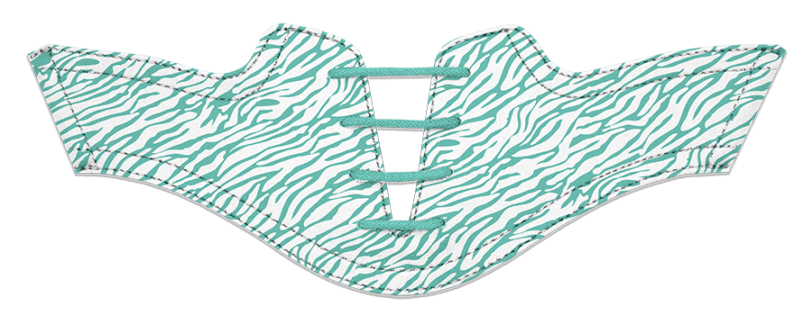 Women's Zebra Teal on White Saddles & Laces - DELIVERY SEPTEMBER 2018